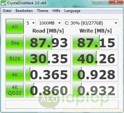 Tốc độ ở cứng EliteBook 8460p