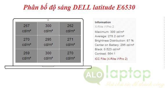 phan bo do sang dell latitude E6530