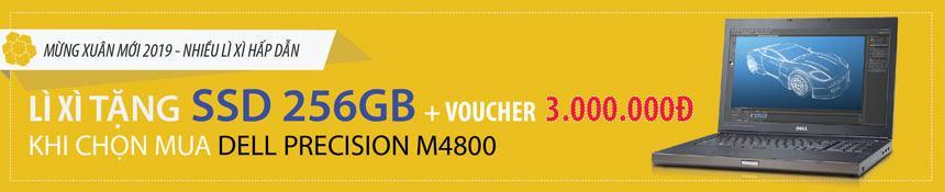 Mua Dell M4800 tặng ổ cứng SSD 256Gb