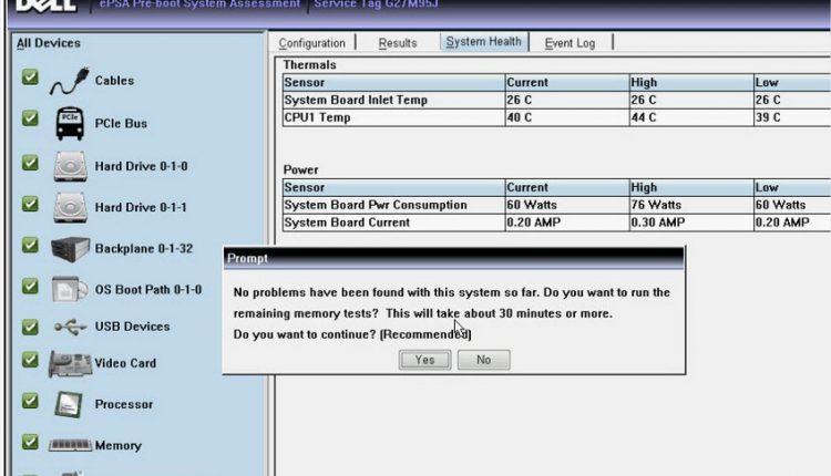 Cách kiểm tra laptop Dell trong 15 phút bằng ePSA