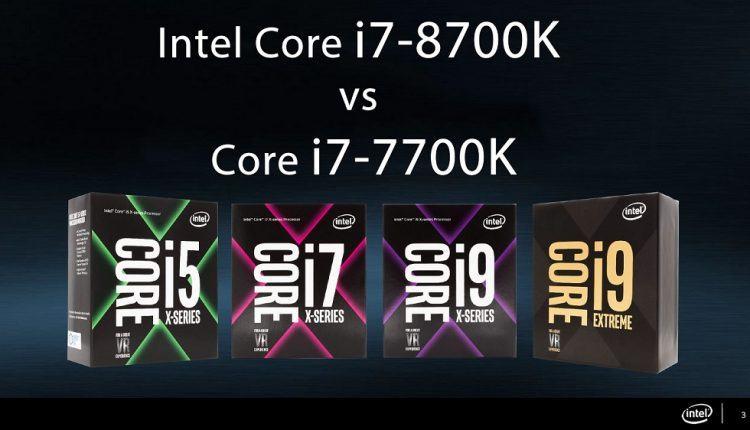 So sánh CPU Intel Core i7-8700K vs Core i7-7700K